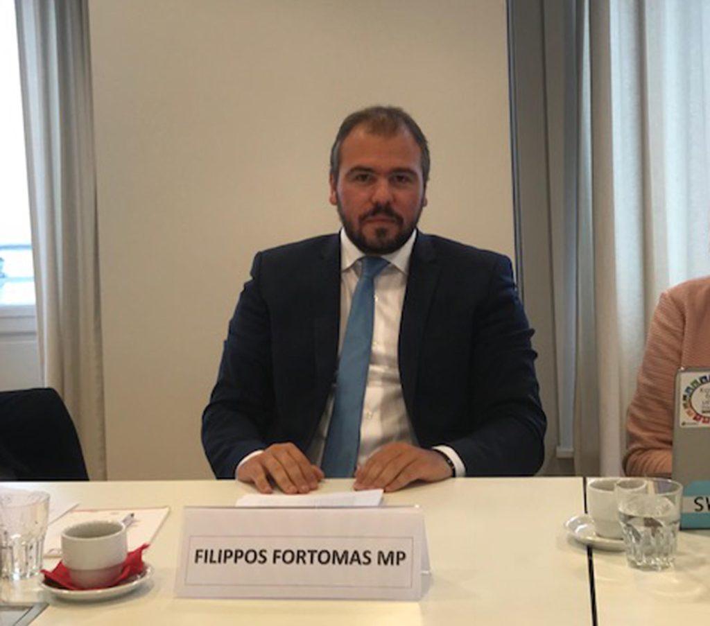 """Απεσταλμένος της Βουλής στις Βρυξέλλες ο Φίλιππος Φόρτωμας. """"Στρατηγικές για την προώθηση της διάστασης του φύλου"""""""