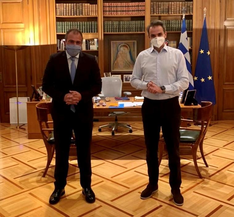 Συνάντηση του Φίλιππου Φόρτωμα με τον Πρωθυπουργό Κυριάκο Μητσοτάκη