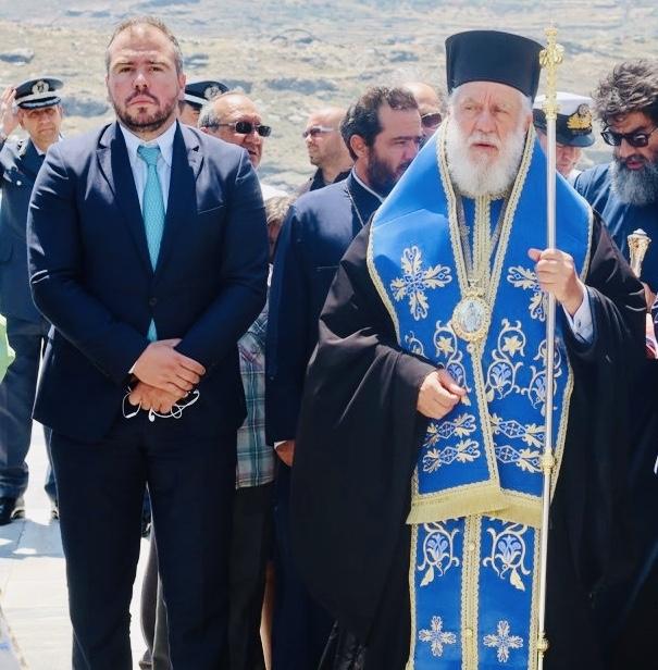 Στον εορτασμό της Θεοσκεπάστου στην Άνδρο,  ο Βουλευτής Κυκλάδων Φίλιππος Φόρτωμας