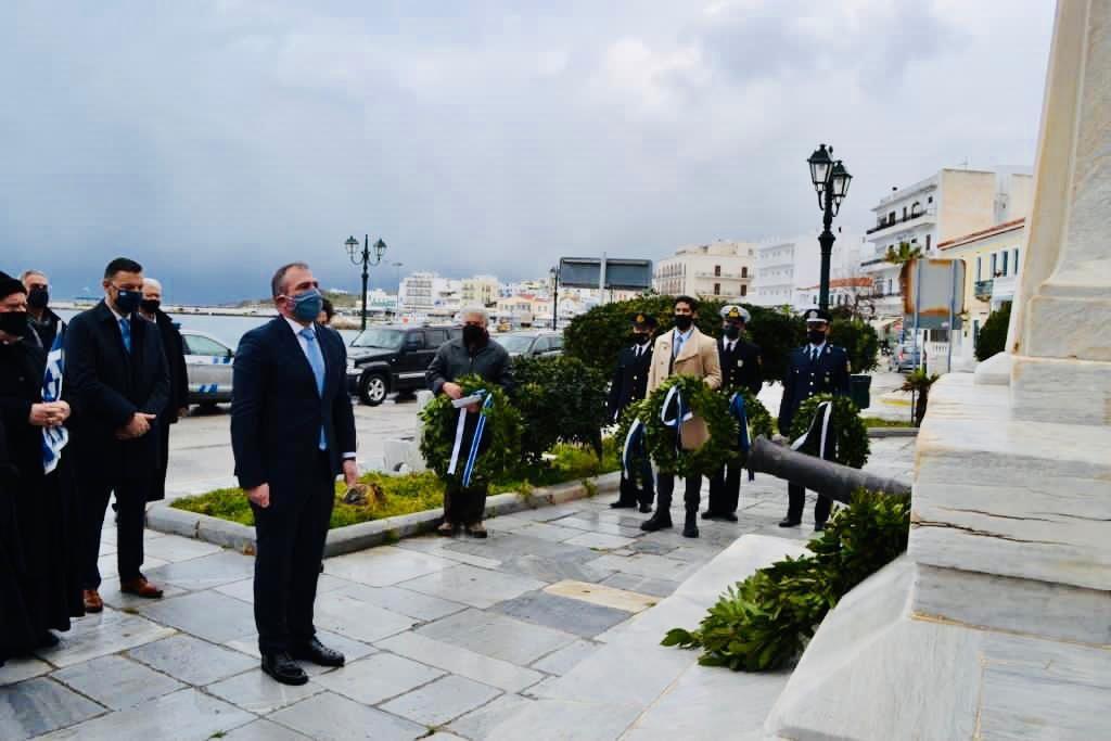 Ο Βουλευτής Κυκλάδων Φίλιππος Φόρτωμας στην Τήνο