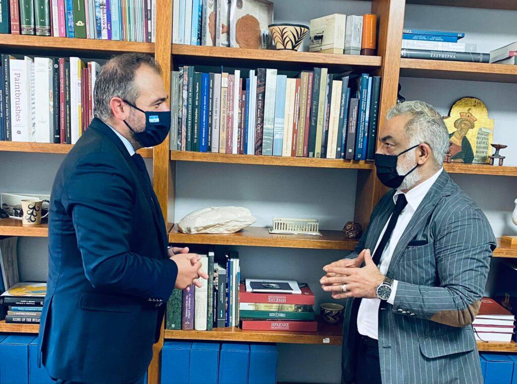 Συνάντηση εργασίας του Φίλιππου Φόρτωμα με τον Πρόεδρο του ΟΔΑΠ